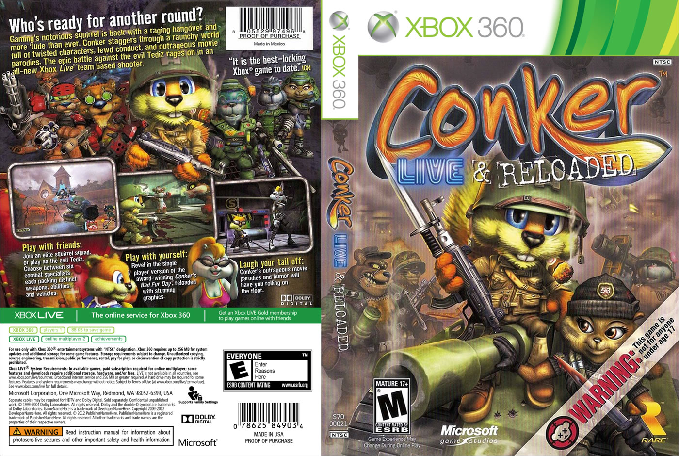 Conker Live And Reloaded Xbox 2017 2018 Best Cars Reviews